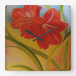 A unique red lily wall clock to grace your walls!