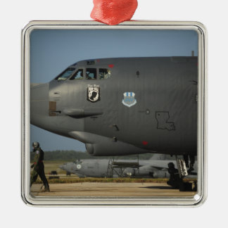 A US Air Force aircrew prepares a B-52 Christmas Ornament