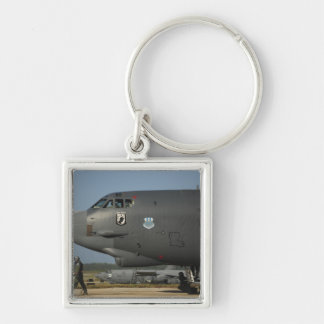A US Air Force aircrew prepares a B-52 Key Ring