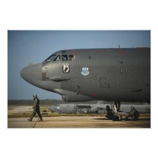 A US Air Force aircrew prepares a B-52 Photo Print