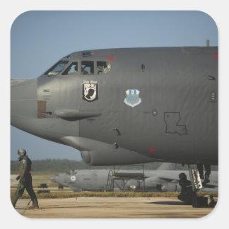A US Air Force aircrew prepares a B-52 Square Sticker