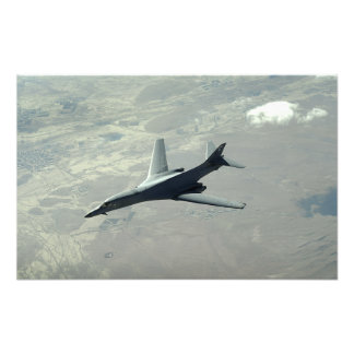 A US Air Force  B-1B Lancer on a combat patrol Photo