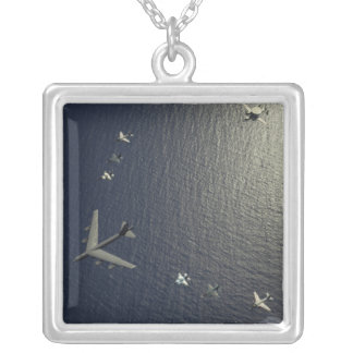 A US Air Force B-52 Stratofortress aircraft Silver Plated Necklace