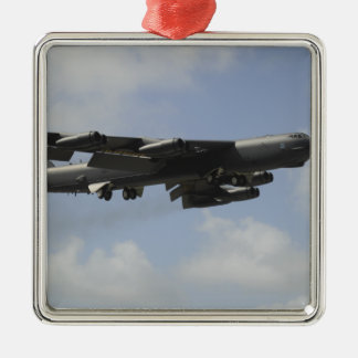 A US Air Force B-52 Stratofortress in flight Christmas Ornament