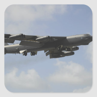 A US Air Force B-52 Stratofortress in flight Square Sticker