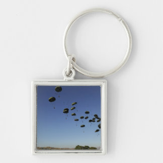 A US Air Force C-17 Globemaster III 2 Silver-Colored Square Key Ring