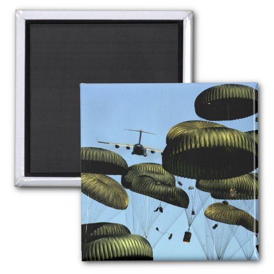 A US Air Force C-17 Globemaster III Square Magnet