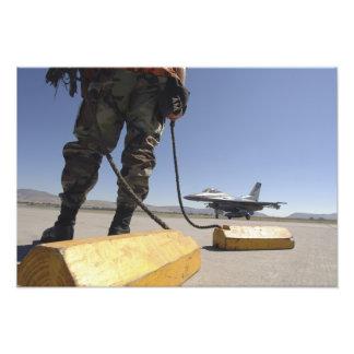 A US Air Force crew chief Photo Print
