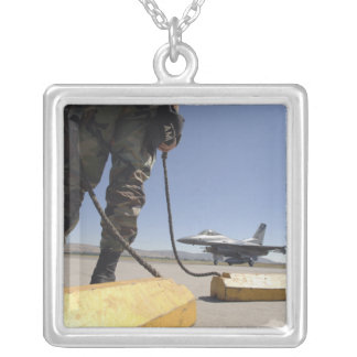 A US Air Force crew chief Silver Plated Necklace