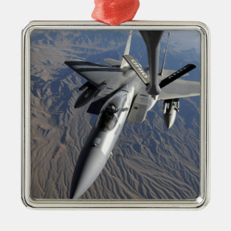 A US Air Force F-15 Eagle Silver-Colored Square Decoration