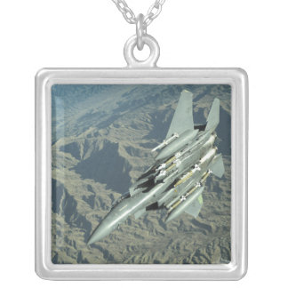 A US Air Force  F-15E Strike Eagle Silver Plated Necklace