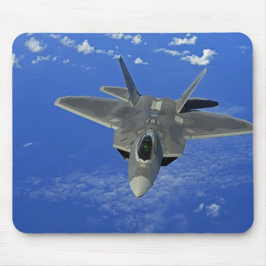 A US Air Force F-22 Raptor in flight near Guam Mouse Mat