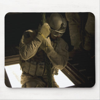 A US Air Force pararescueman begins his descent Mouse Pad