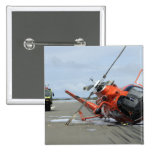 A US Coast Guard MH-65 Dolphin helicopter crash 15 Cm Square Badge
