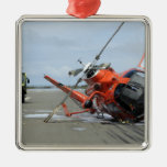 A US Coast Guard MH-65 Dolphin helicopter crash Silver-Colored Square Decoration