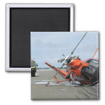 A US Coast Guard MH-65 Dolphin helicopter crash Square Magnet