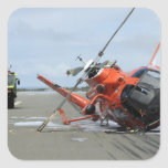 A US Coast Guard MH-65 Dolphin helicopter crash Square Stickers