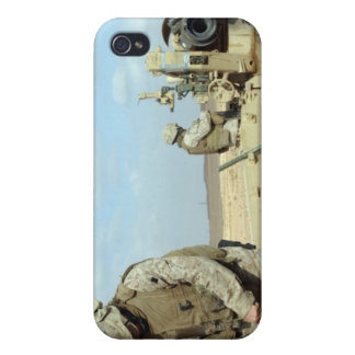 A US Marine prepares howitzer rounds to be fire iPhone 4/4S Covers
