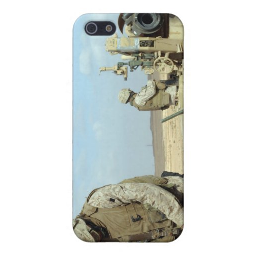A US Marine prepares howitzer rounds to be fire iPhone 5 Case