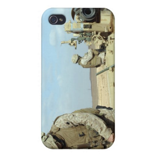 A US Marine prepares howitzer rounds to be fire iPhone 4/4S Cover