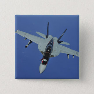 A US Navy F/A-18F Super Hornet in flight 15 Cm Square Badge