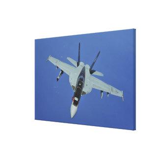 A US Navy F/A-18F Super Hornet in flight Canvas Print