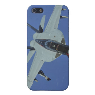 A US Navy F/A-18F Super Hornet in flight iPhone 5 Covers