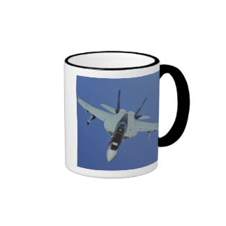 A US Navy F/A-18F Super Hornet in flight Mugs