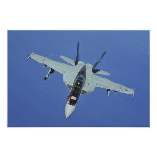 A US Navy F/A-18F Super Hornet in flight Photo