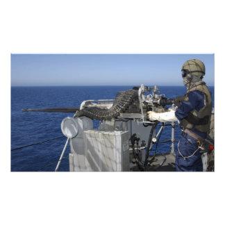 A US Navy Gunner's Mate Photo Print