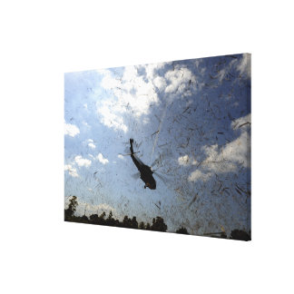 A US Navy HH-60 Seahawk Stretched Canvas Print