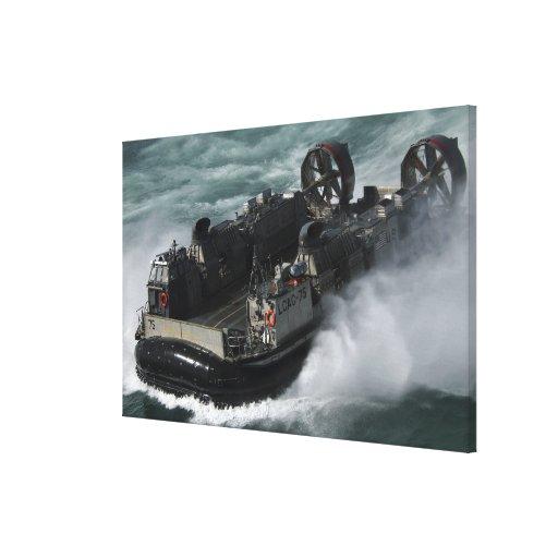 A US Navy Landing Craft Air Cushion Gallery Wrap Canvas