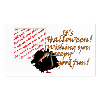 A Vampire s Kiss of Death Halloween Photo Frame Business Card Template