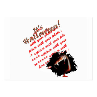 A Vampire s Kiss of Death Halloween Photo Frame Business Card