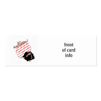 A Vampire's Kiss of Death Halloween Photo Frame Pack Of Skinny Business Cards
