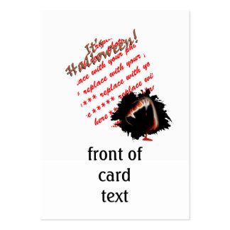A Vampire's Kiss of Death Halloween Photo Frame Business Card