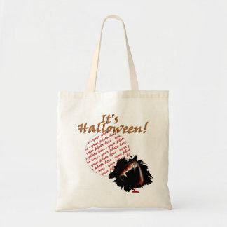 A Vampire's Kiss of Death Halloween Photo Frame Budget Tote Bag