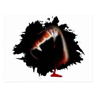 A Vampire's Kiss of Death Postcard