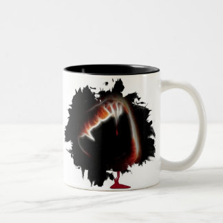 A Vampire's Kiss of Death Two-Tone Coffee Mug