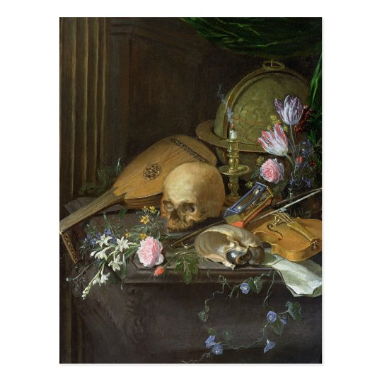 A Vanitas Still Life with a Nautilus and