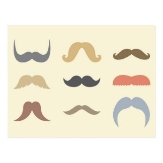 A Variety of Mustaches Postcard