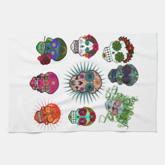 A Variety of Sugar Skulls Tea Towel