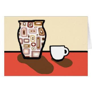 A vase card