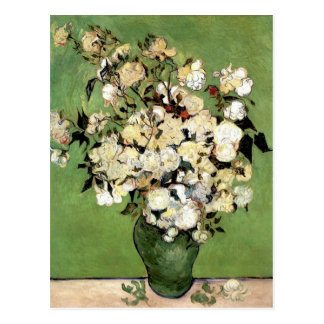 A Vase of Roses by Vincent Van Gogh Postcard