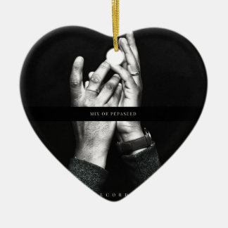 A VCVH Records Inc. Single By Michael Millis Ceramic Heart Decoration
