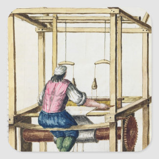 A Venetian Weaver Square Sticker