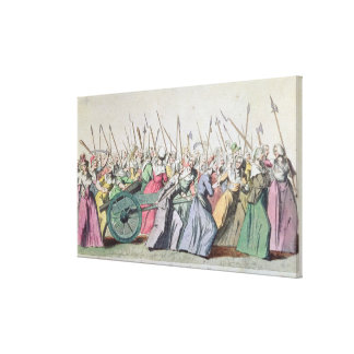 A Versailles, A Versailles' March of the Women Stretched Canvas Print