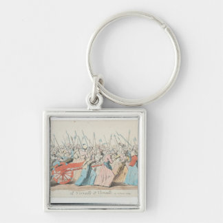 A Versailles, A Versailles' Silver-Colored Square Key Ring