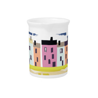 A Very British Seaside. Scenic color beach houses Pitcher