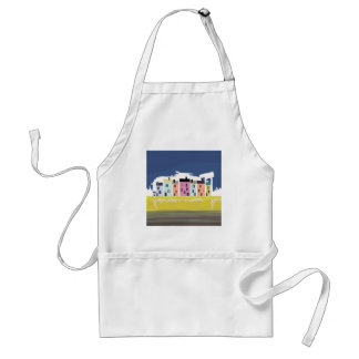 A Very British Seaside. Scenic color beach houses Standard Apron
